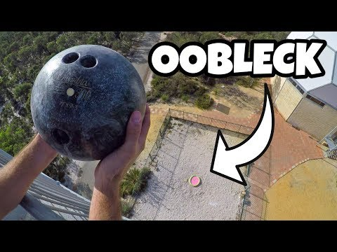 BOWLING BALL Vs. OOBLECK from 45m!