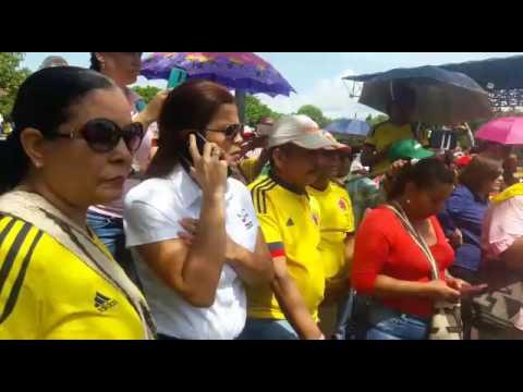 Alcalde de Valledupar Augusto Uhia apoyando el paro del magisterio.