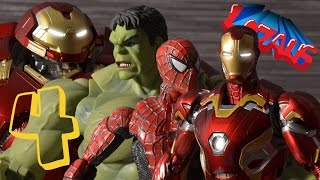 IRONMAN STOP MOTION Part 4 with SPIDERMAN HULK & HULKBUSTER