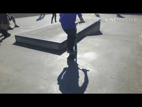 Me and liam grind ledge at westpark skatepark