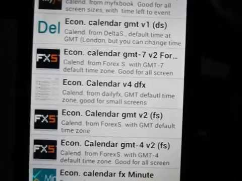 Video of ECONOMIC CALENDARS
