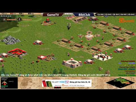 AOE | 4vs4 Random GameTV vs BiBi Club   ngày 16 10 2017.BLV: G_Ver