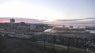 Saint John Harbour Time-lapse - Cruise Ships and Sunrise