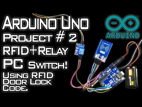 MFRC522 RFID Module + 5v Single Channel Relay = PC Switch With Added Security! [Arduino Project #2]