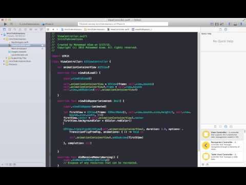Learning IOS Development Part 79 (UIView Transitions)