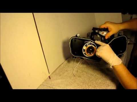 How To Install BKMOTO.COM HID Projectors 03-06 Honda CBR 600RR and 04-07 1000RR