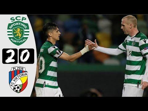 HD| Sporting 2-0 V. Plzen - All Goals & Highlights - UEL - Sportalios TV