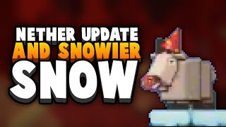 Nether Update GAMEPLAY - Piglins, Target Block & Nether Wood?