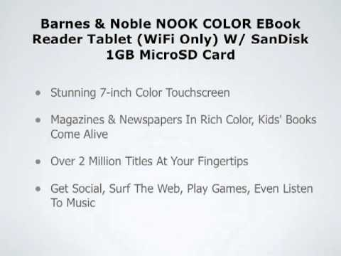 0 B&N Nook Color + SanDisk 1GB Card