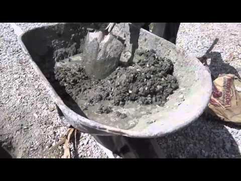 Mixing Cement by Hand - Tips