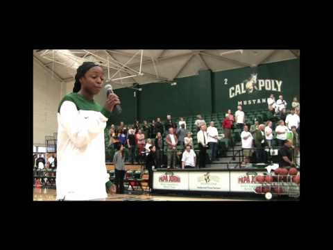 CAL POLY SENIOR NWAMAKA OFODU, NATIONAL ANTHEM