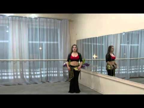 Смотреть онлайн танцы: Обратный шаг (сброс бедра, акцент животом,волна)