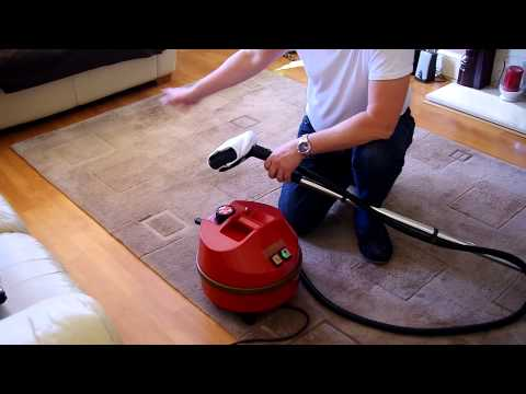Carpet Rug Steam cleaning demonstration using the Goblin Steamatic Pro