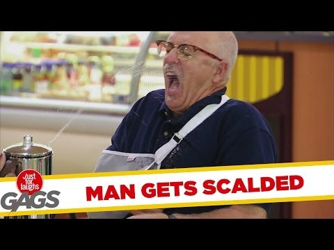 Tricked Teapot Scalds Injured Man Gag - Youtube