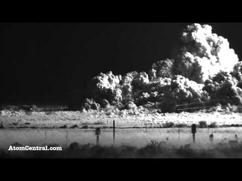 Blast effect footage from the 1953 test of the atomic