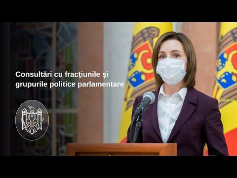 Președintele Republicii Moldova, Maia Sandu - după consultările cu fracțiunile și grupurile parlamentare din parlament