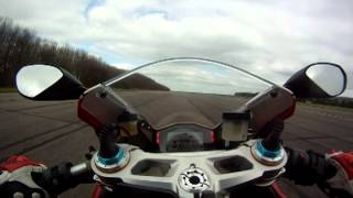 3. 2012 Ducati Panigale Tricolore with Termignoni pipes top speed run
