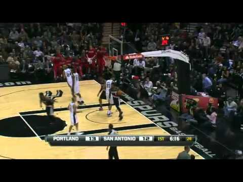 Raymond Felton to Gerald Wallace Alley Oop Dunk on Spurs