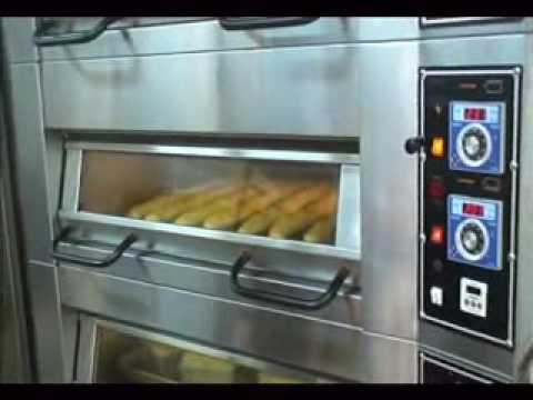 FOULHOUX BAKERY EQUIPMENT INC CANADA DECK OVEN BAKING FRENCH BREAD.wmv