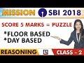 SBI Clerk Prelims 2018   Puzzle   Reasoning   Floor & Day Based   Class -2