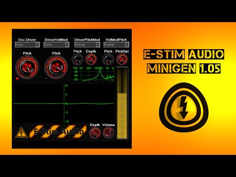 E Stim - Demonstration of the Estim Audio Mini Generator Demo 105 gamma release.