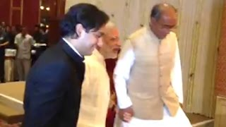 Prime Minister Narendra Modi was present to bless the newly married couple Jaivardhan Singh, son of Congress General ...