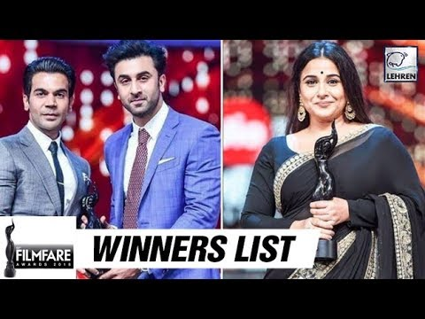 63rd Filmfare Awards 2018 Full Winners List