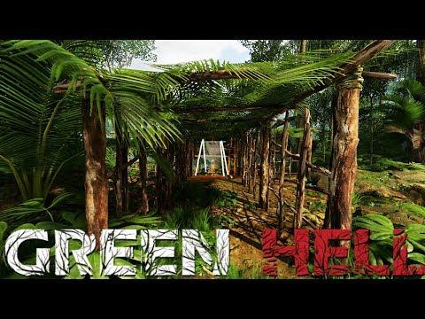 Green Hell - Building A Giant Shelter - Predator Attacks! - Green Hell Gameplay Highlights