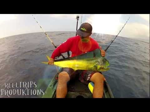 EXTREME KAYAK FISHING ONO & MAHIMAHI  - kayak fishing, kayak photos, kayak videos