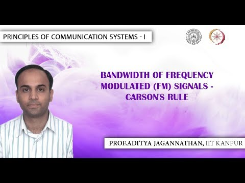 Lec 33 | Principles of Communication | FM Signal Bandwidth | IIT Kanpur (видео)