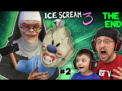 ICE SCREAM 3: The End! Baby Rod's Mom is EVIL NUN! (FGTeeV Pt. 2 Funny Gameplay Glitches / SKIT)