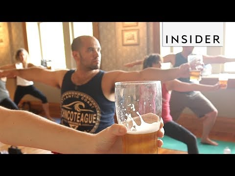 You Can Now Drink Beer While Doing Yoga