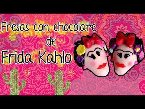 Decorados de uñas -  Fresas con Chocolate de Frida Kahlo!!