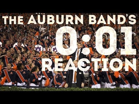 The Auburn University Band Reacts to 2013 Iron Bowl