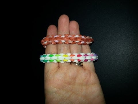 "My New Reversible ""Dainty Duo"" Rainbow Loom Bracelet/How To Tutorial"