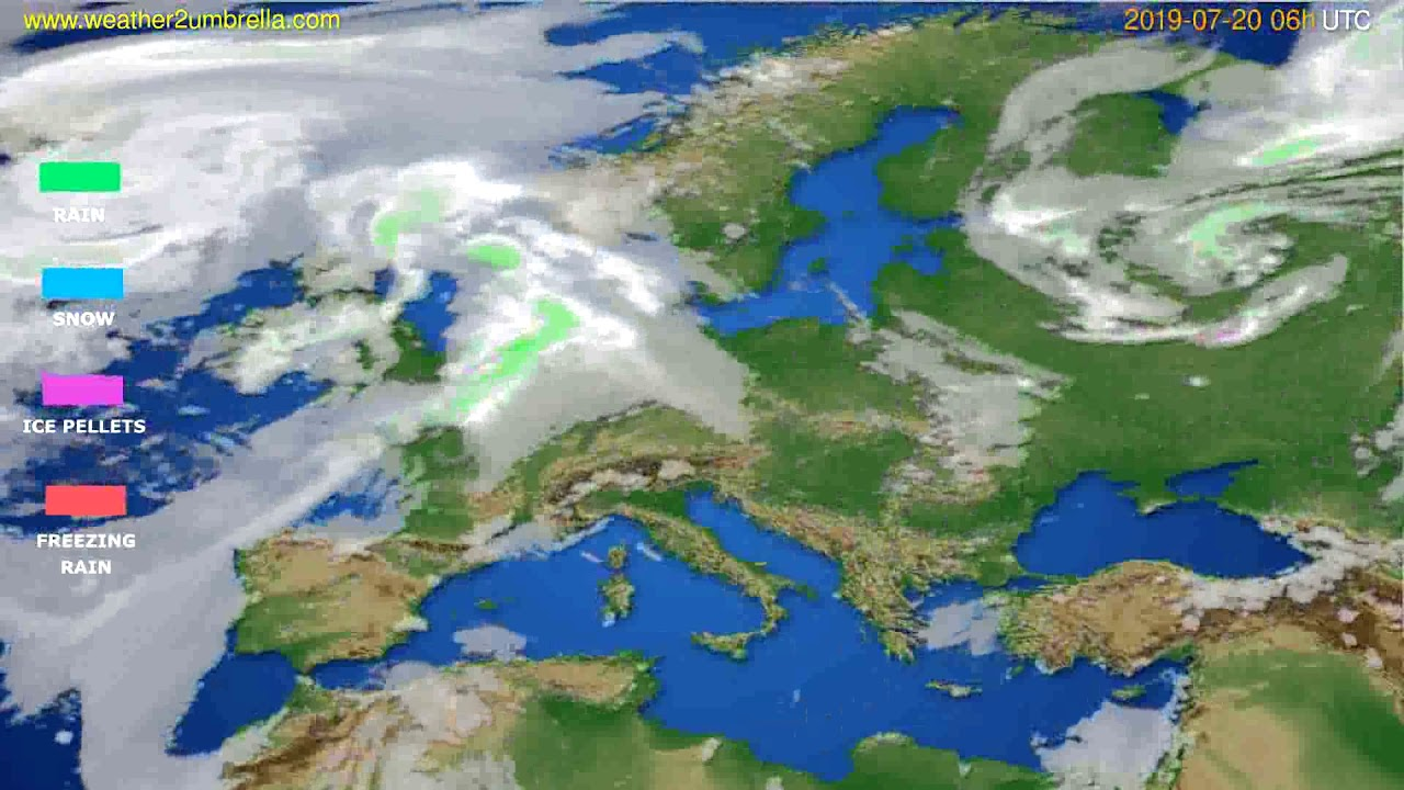 Precipitation forecast Europe // modelrun: 12h UTC 2019-07-17