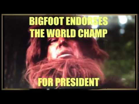 Bigfoot Endorses World Champion Judah Friedlander for President
