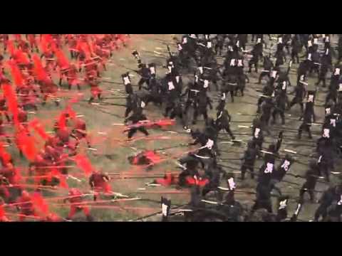"""Video. Batalla japonesa del siglo XVI. De la película """"El Guerrero"""""""