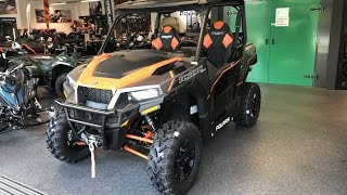 6. POLARIS GENERAL 1000 EPS DELUXE ATV QUAD ! WALKAROUND + INTERIOR ! MODEL 2017 ! ORANGE BURST !
