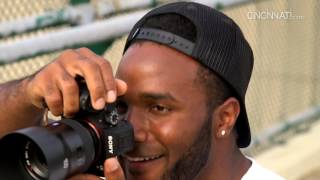 Cincinnati Bengals running back Giovani Bernard picks up a camera and talks about his love of photography. Sam Greene / The...