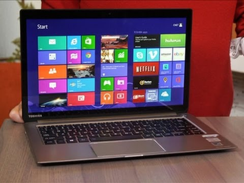 Toshiba - http://cnet.co/17HvCyc The Kirabook's biggest selling point is its high-res screen. Far beyond 1920x1,080, this is instead a 2560x1,440-pixel-resolution di...