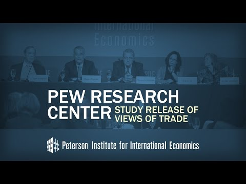 event pew research center study release of views of trade