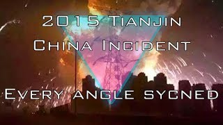 Tianjin China  city photos : 2015 Tianjin China Huge Explosion HD Every Angle Synced