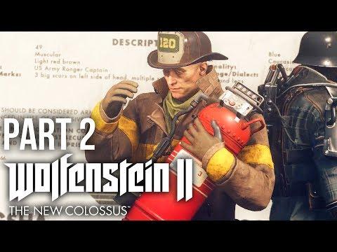 WOLFENSTEIN 2 THE NEW COLOSSUS Gameplay Walkthrough Part 2 - A GERMAN AMERICA ??? (PREVIEW)