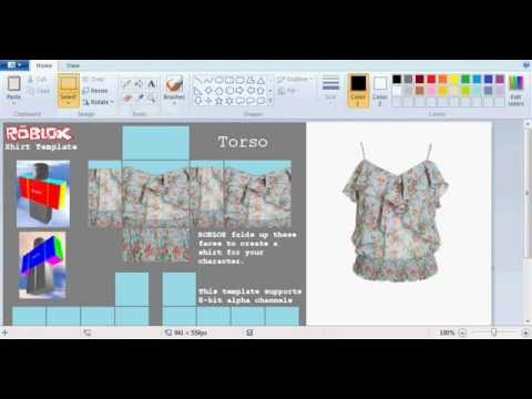 Roblox How To Make A Good Shirt With Paint Net