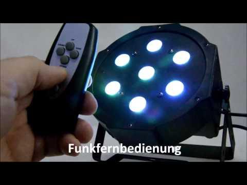 LED PAR 56 Spot 7x10 Watt RGBW 4-in-1 DMX ECO Flat Version