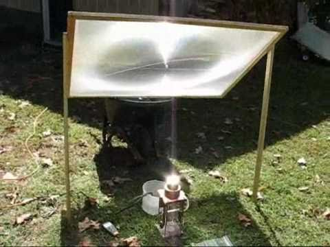 Solar-powered home-built Stirling engine