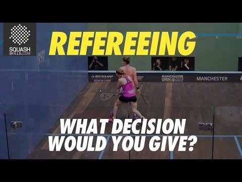 Squash Refereeing: Alison Waters v Joelle King - Stroke
