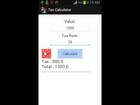 Video of Tax Calculator