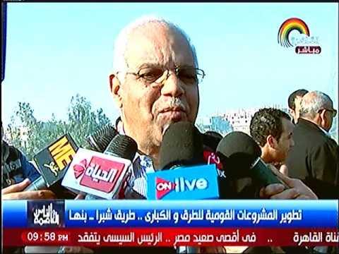 وزير النقل يواصل جولاته لمتابعة المشروع القومي للطرق